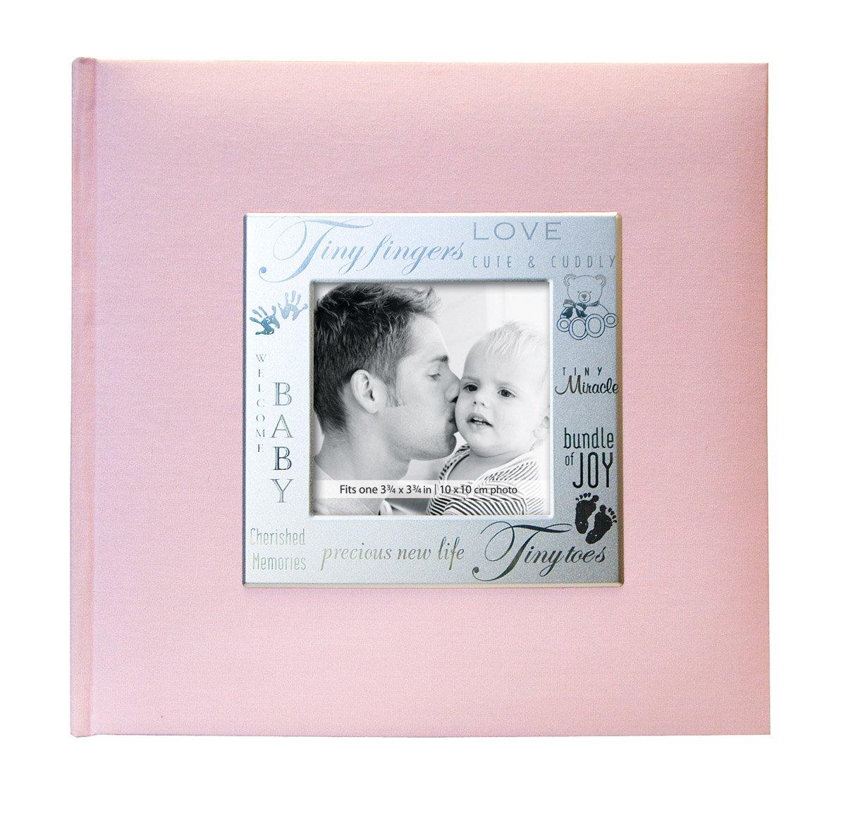 MBI 9x9 Inch Fabric Expressions Pocket Album, Pink (846611)