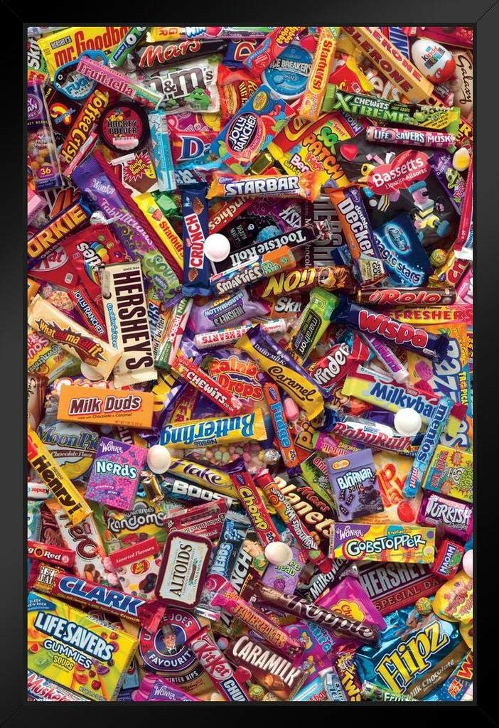 Pyramid America I Want Candy Howard Shooter Framed Poster 12x18 inch