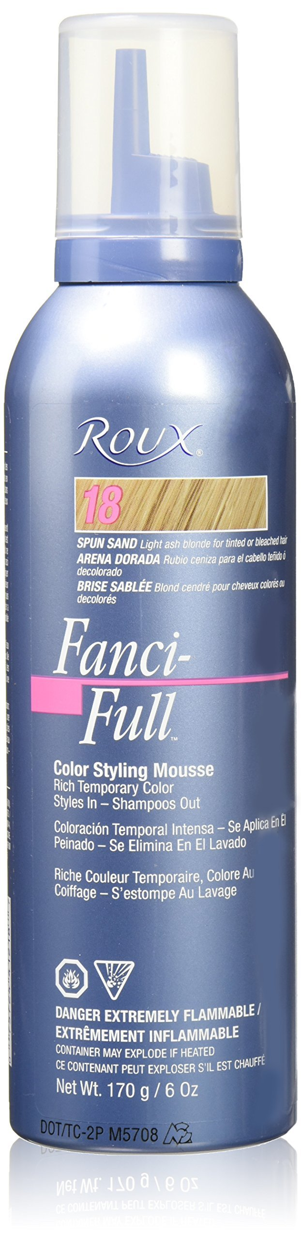 Roux Fanci-Full Mousse, 18 Spun Sand, 6 Fluid Ounce