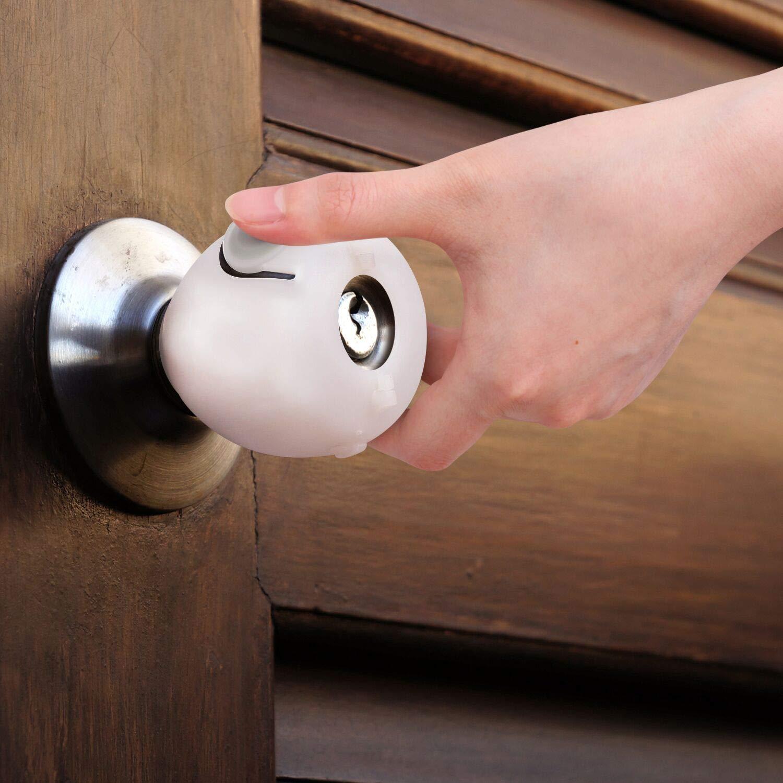 6 Pack Eudemon Baby Safety Door Knob Covers Door Knob Locks