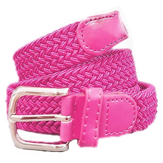 b804d797d274b1 xxl-cosmetic Flechtgürtel Unisex elastisch Damen Herren Gürtel geflochten  Stretch #ES Pink