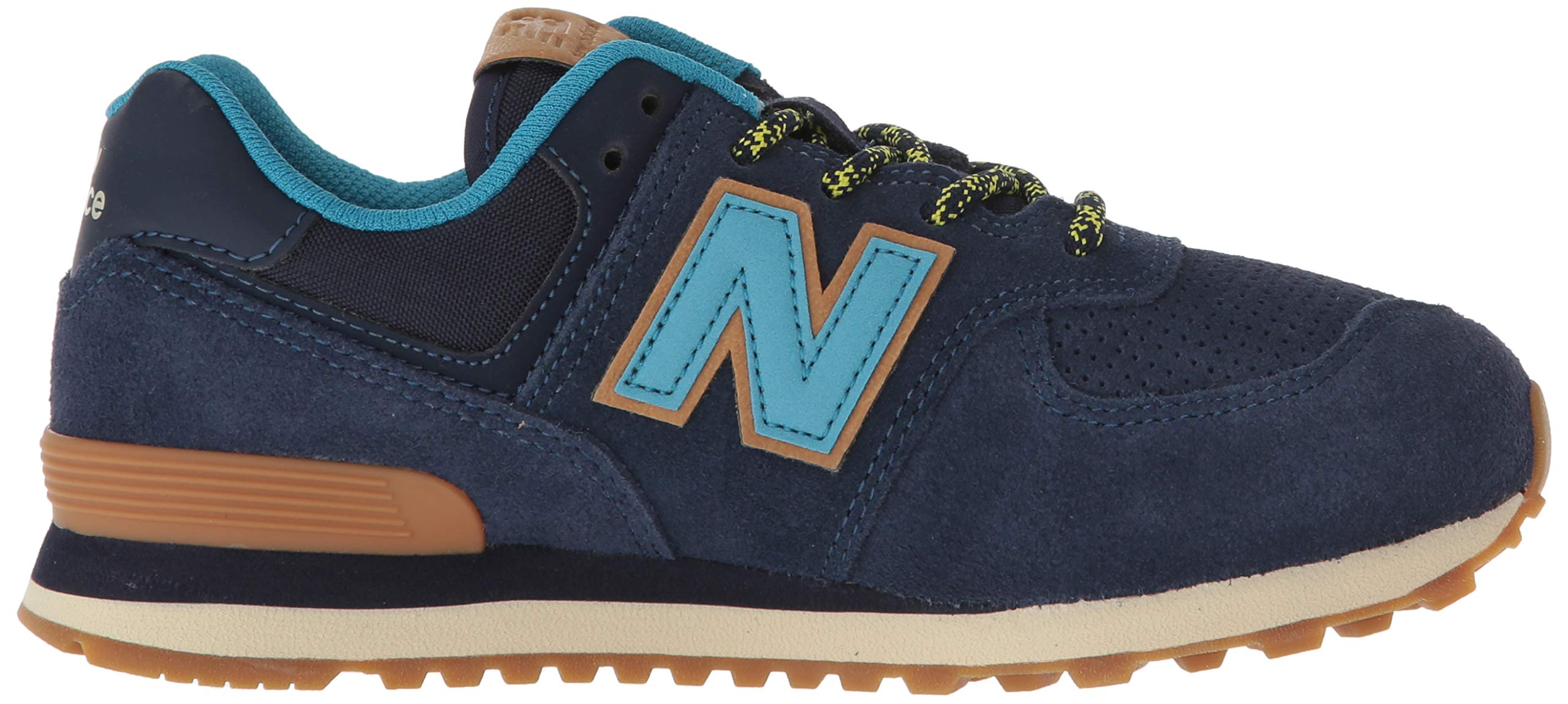 New Balance Boys' Iconic 574 Sneaker Pigment/Cadet 10 M US Toddler by New Balance (Image #6)