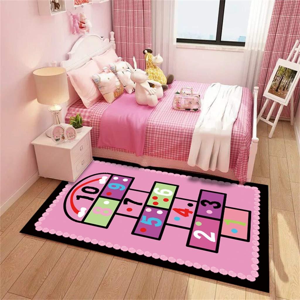 YUER Kinderteppich, benutzerdefinierte Prinzessin Baby Krabbeldecke Kinderzimmer Nachttisch Wohnzimmer Schlafzimmer Schlafzimmer Waschmaschine Reinigung (größe : 120cm × 180cm)