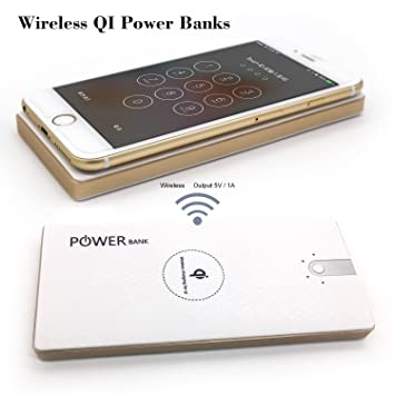 ROSON® Super velocidad Qi Wireless Power Bank 8000mAh ...