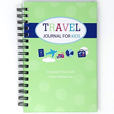 Travel Journal for Kids- Fun and Easy Way to Document Several Childhood Vacations in One Journal (Green): Office Products [5Bkhe1802504]