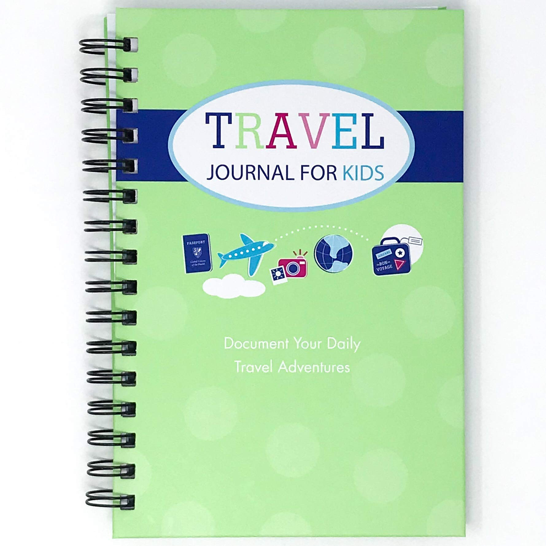 Travel Journal for Kids- Fun and Easy Way to Document Several Childhood Vacations in One Journal (Green)
