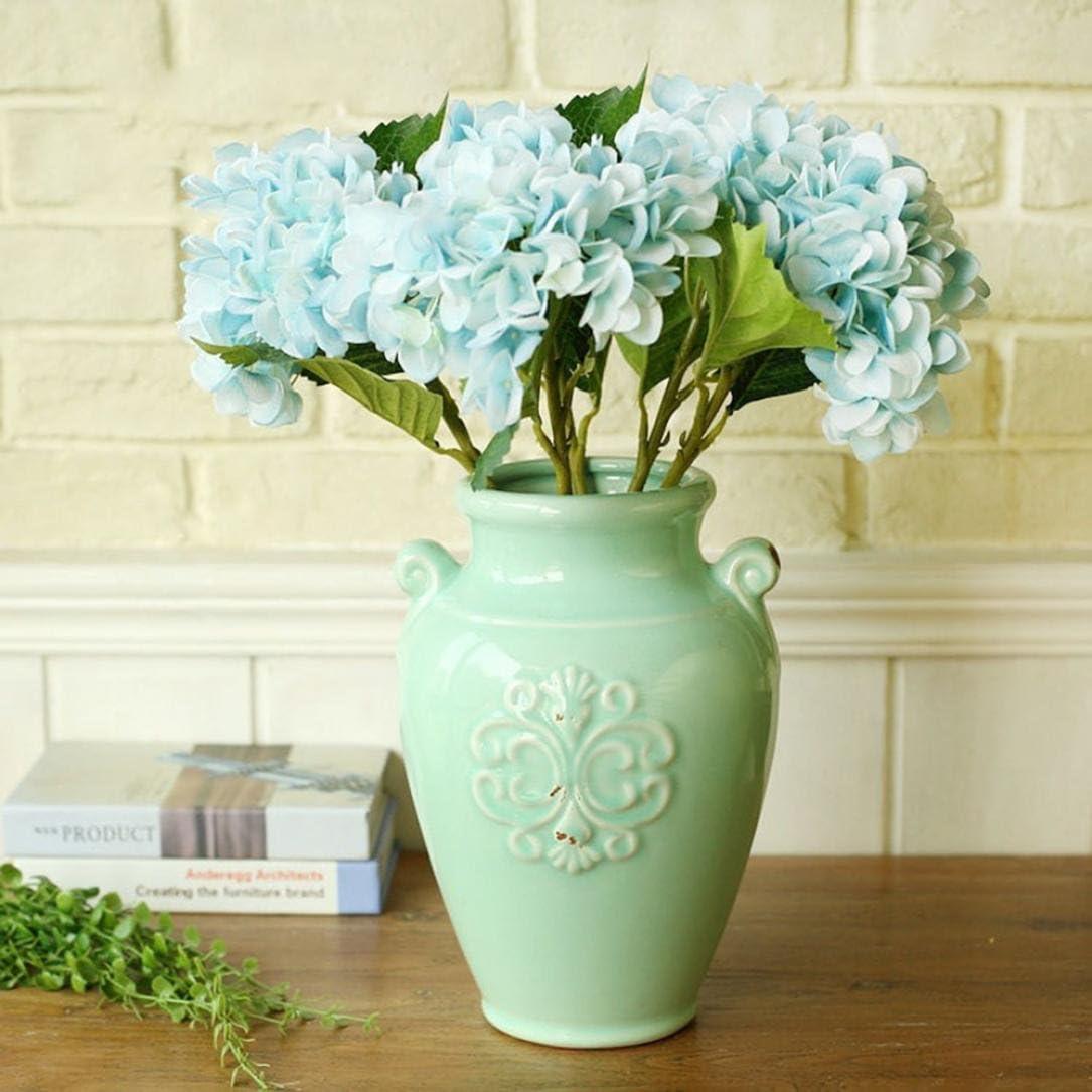 hlhn 5 pcs Faux Seda Artificial ramo de hortensias de flores ...