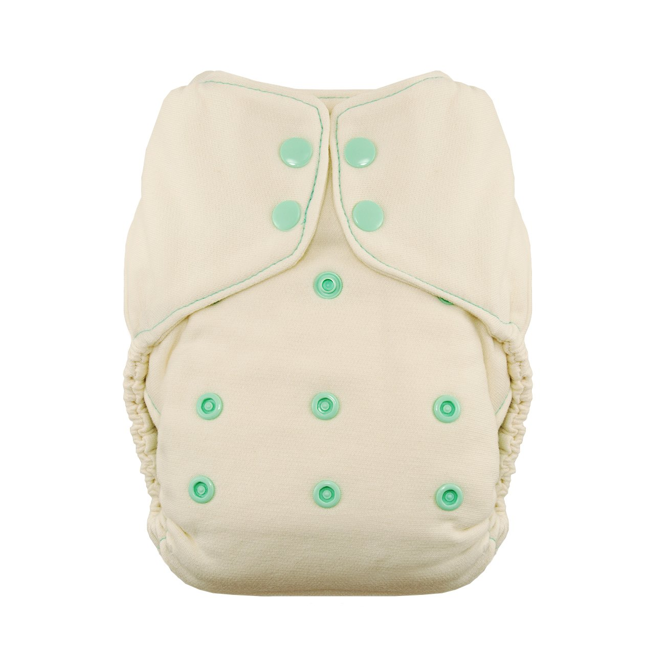 Thirsties Snap Natural One Size Fitted, Moss Diapers TNATOSFSMo