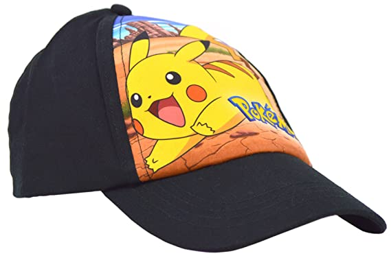 15e1c702268 Pokemon Official Licensed Black Pikachu Design Baseball Cap Hat One Size 4-12  Years