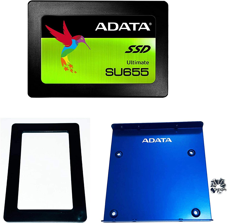 ASU655SS-480GT-C ADATA SU655 480GB 3D NAND 2.5 inch SATA III High Speed Read up to 520MB//s Internal SSD