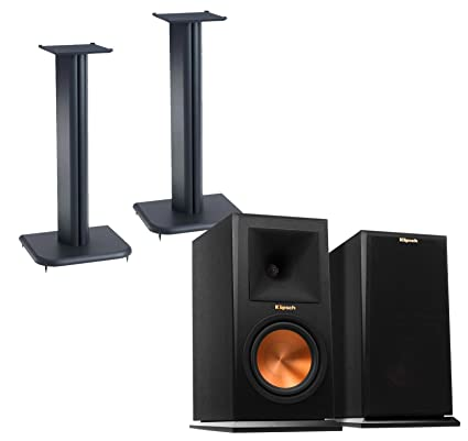 Klipsch Reference Premiere RP160M Pair Bookshelf Speakers With Sanus BF24B1
