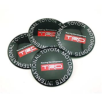 shangmao369 4 piezas C061 65 mm coche estilo accesorios emblema insignia pegatina tapacubos tapas Centro cubierta TRD RACING Toyota Corolla RAV4 Camry PRIUS ...