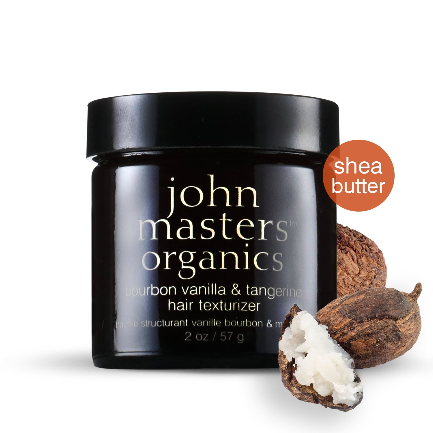 John Masters Organics - Bourbon Vanilla & Tangerine Hair Texturizer - All Natural Styling Product for Men & Women, Moisturize, Add Shine, Texture - Extra Strong Hold - 2 oz