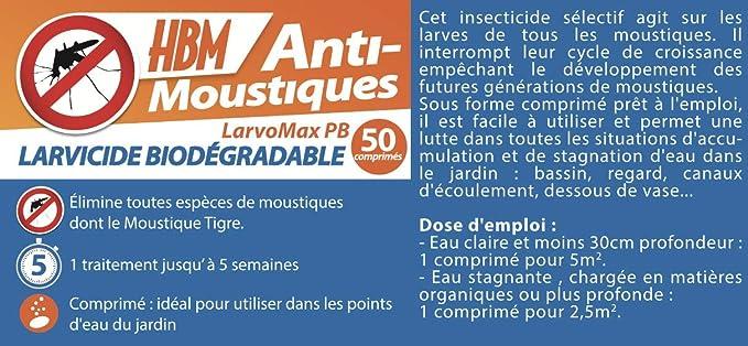 MoustiqueSolutions larvomax 001-PR-PRA002 Larvicida Biodegradable ...