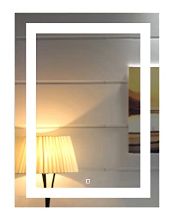 24X32 Inch Wall Mounted Led Lighted Bathroom Mirror with Touch Switch GS099-2432N 24×32 inch New