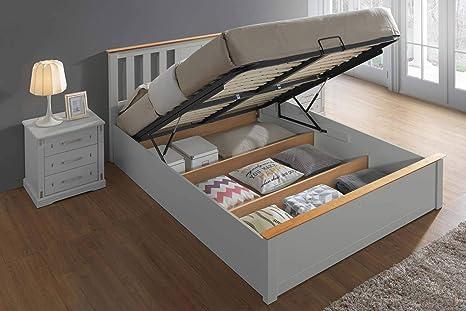 Excellent Chester Light Grey Oak Ottoman Storage Bed Frame 5Ft King Size Dailytribune Chair Design For Home Dailytribuneorg