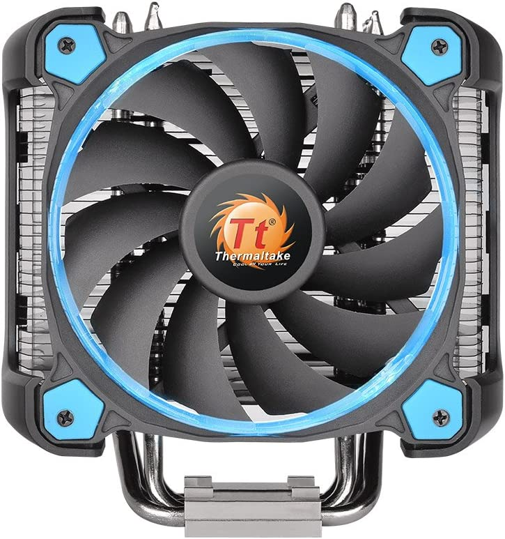Thermaltake CL-P021-CA12BU-A Ring Silent 12 Pro CPU Cooler and Fan Blue