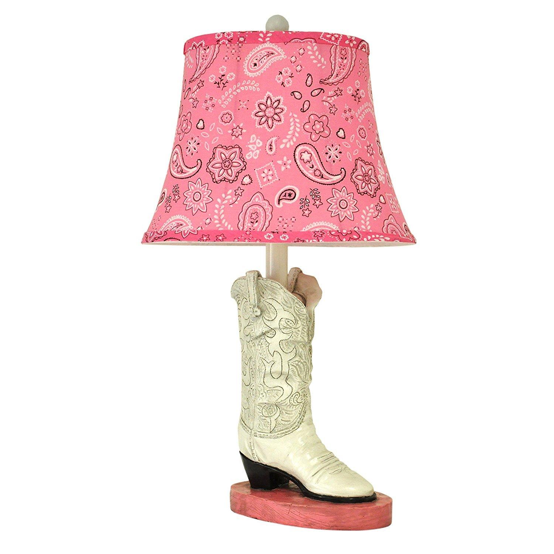 Lady Boot Base Table Lamp - Kid's Lamp - Bedroom Table Lamp - Reading Lights - Study Lamp - Work Lamp - Office Lamp - Living Room Lamp - Bedside Nightstand Lamp - Girl's Room Decor Lamp