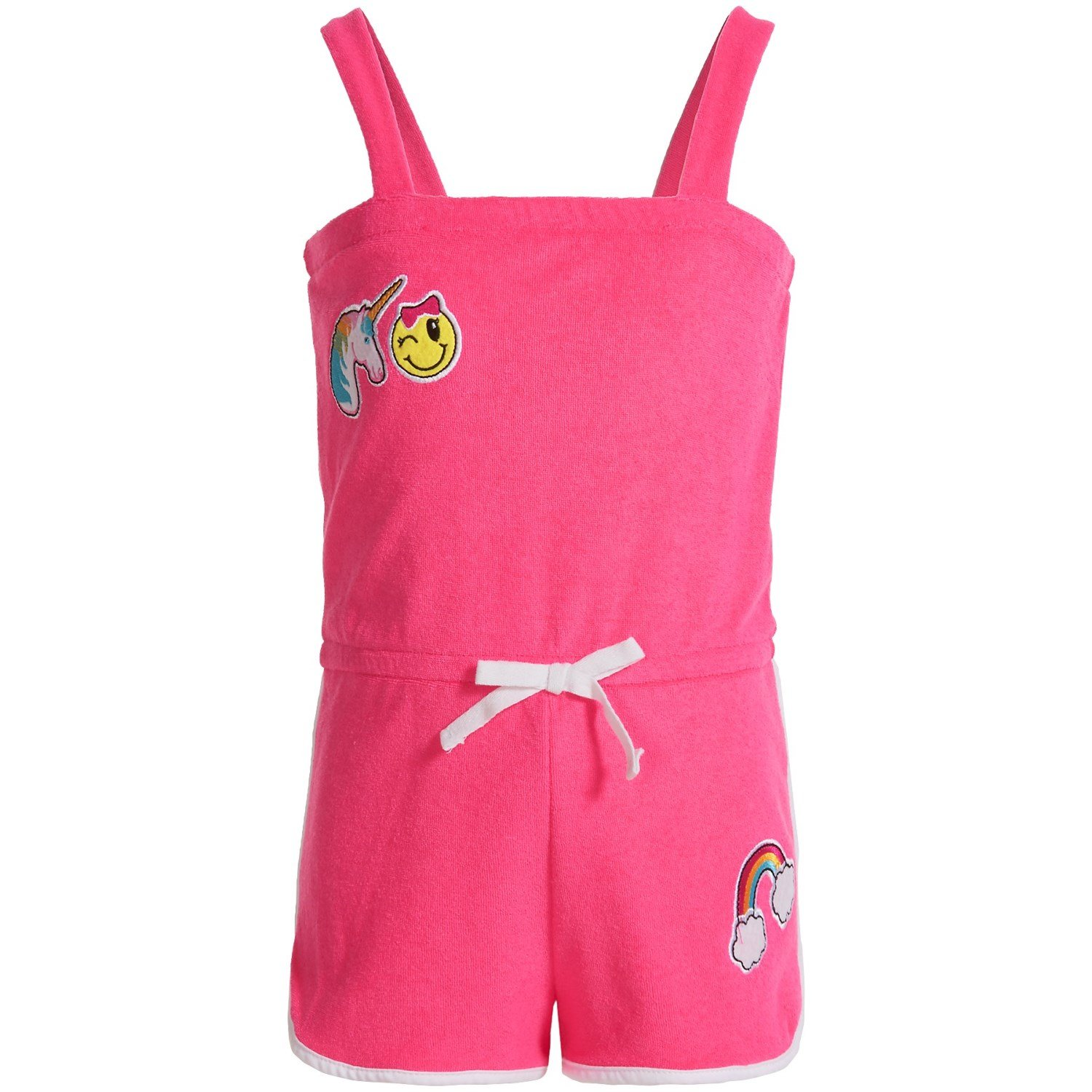 Pink Platinum Toddler Girls' Terry Romper Cover up, Knockout Pink, 4T