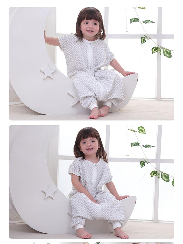 Chilsuessy Baby Sommer Kurzarm Schlafsack aus 100/% Baumwolle Sommerschlafsack Babyschlafsack Kinderschlafsack f/ür M/ädchen und Jungen M//Koerpergroesse 80-90cm Gelb