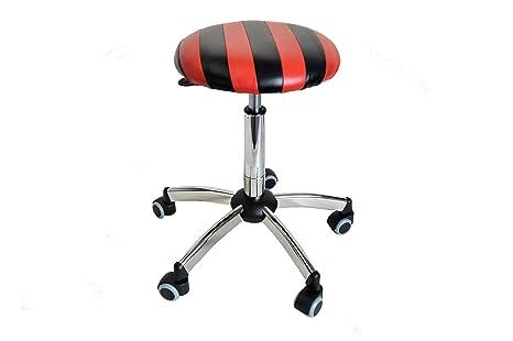 Uni form sgabello regolabile in altezza con sedile colorato a fasce