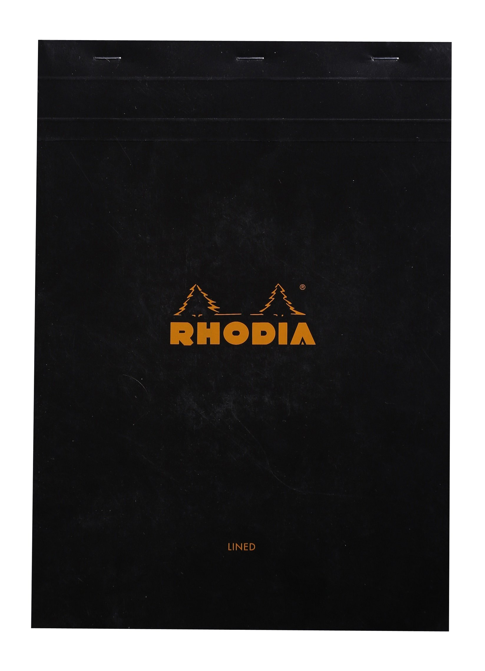 Rhodia Staplebound Notepads - Lined w/3 hole 80 sheets - 8 1/4 x 11 3/4 in. - Black cover by Rhodia
