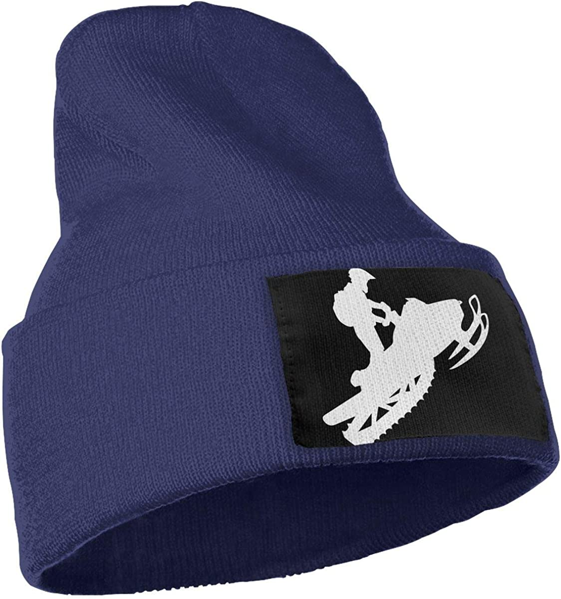 Snowmobile Men /& Women Knit Hats Stretchy /& Soft Skull Cap Beanie