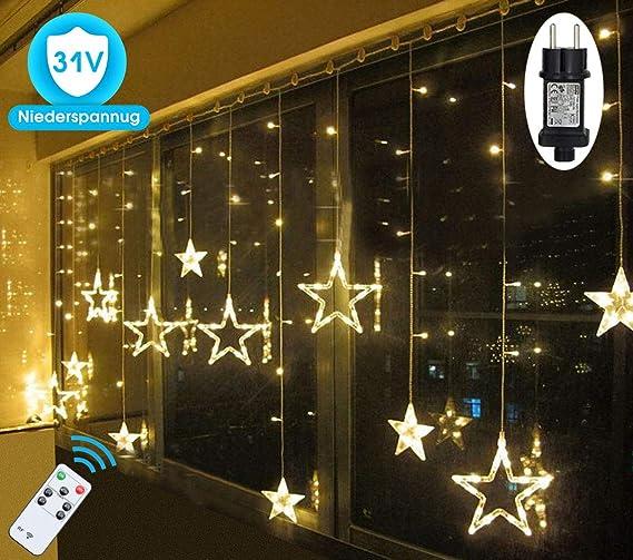 Led Lichterkette Sterne Fur Weihnachten Innen Fenster Mit Timer