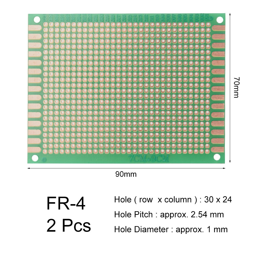 sourcing map 13x25cm universel simple face circuit imprim/é souder bricolage 1pcs