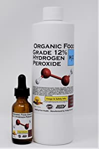 1 Pint (16 oz) Organic TNL 12% Certified Food Grade Hydrogen Peroxide + Pre-filled Dropper Bottle. Recommended by One Minute Cure & True Power of Hydrogen Peroxide. Shipped Fast. MADE IN USA