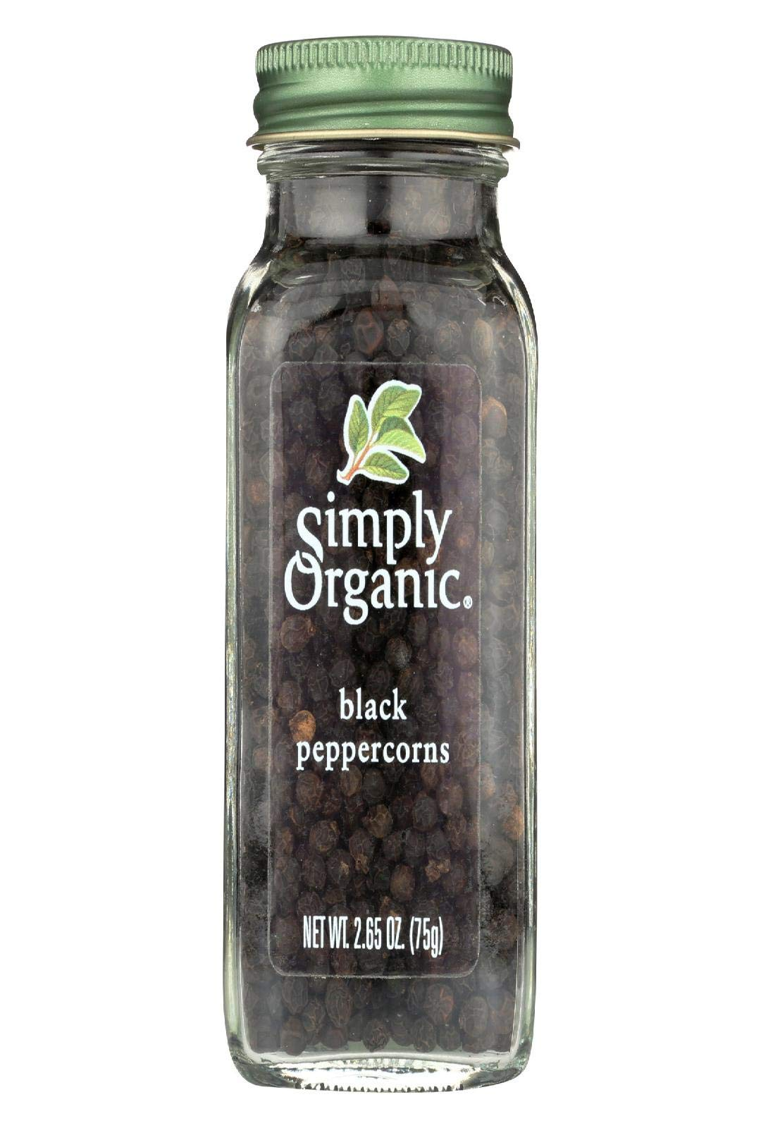 Simply Organic Black Whole Peppercorns Seasoning, 2.65 Ounce - 6 per case. by Simply Organic