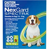 NexGard Spectra for Dogs 7.6-15kg - Flea, Tick & Worm Chewable Tablet - 6 Pack