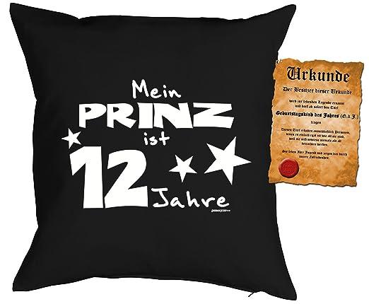 12 Cumpleaños Niño Cojín - Cojín infantil: Mi Príncipe es 12 ...