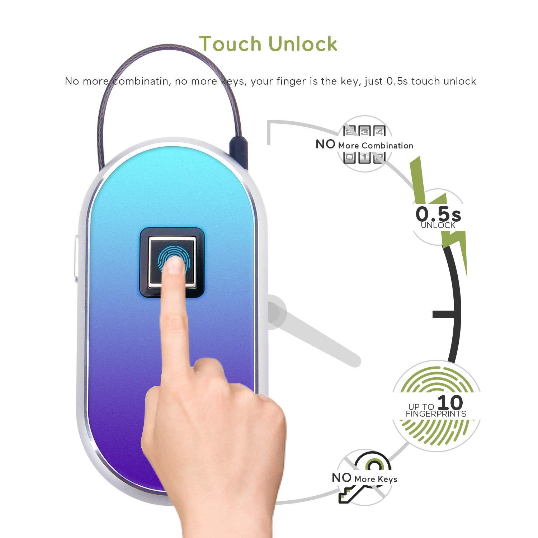 910802c24221 Amazon.com : Royal Defender Fingerprint Lock Smart Keyless Biometric ...