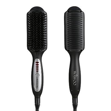 Wawoo – multifuncional soporte de hierro plancha para el pelo cepillo Peine, Anion Cerámica Cabello