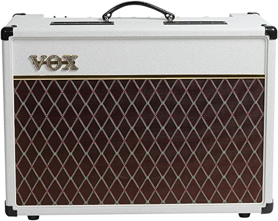 Amazon.com: VOX AC15C1WB Limited White Bronco Electric Guitar Amplifier: Musical Instruments