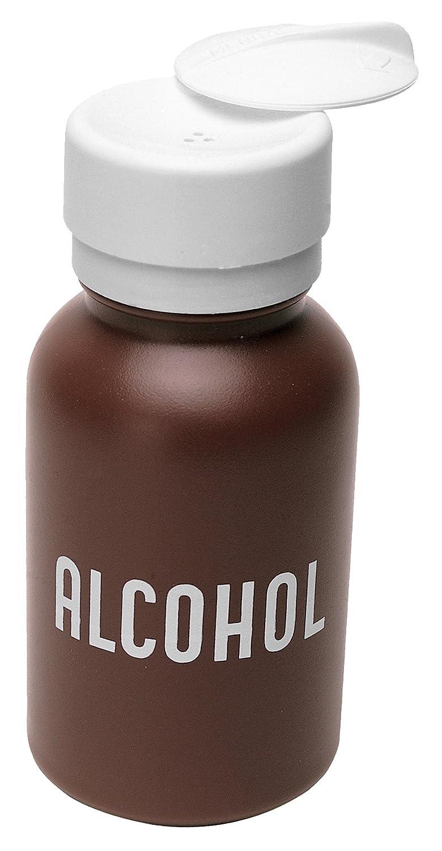 oz MENDA 35602 High-Density Polyethylene//Hdpe//Polypropylene//Steel//Low-Density Polyethylene//Ldpe Dispensing Bottle Brown Lasting-Touch 8 oz Capacity 8 fl Round HDPE