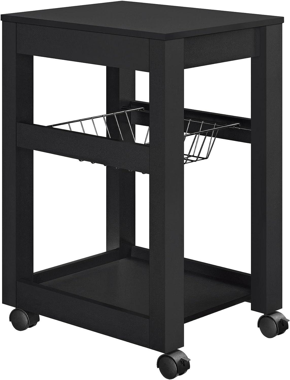 Altra Furniture Altra Parsons Storage Cart, Black