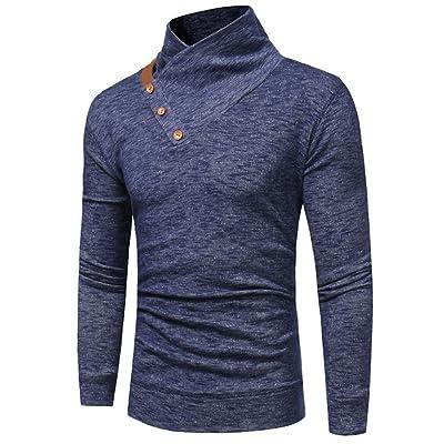 Botrong Mens' Autumn Winter Slim Fit Sweatshirt Tops Long-sleeved T-shirt Blouse
