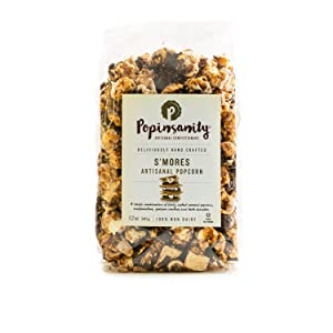 Popinsanity Gourmet Popcorn Deluxe Bag | Non-GMO & Dairy Free - Holiday, Mother's Day, Corporate, Snacks, Office Snacks, Get Well or Birthday Gift - S'mores