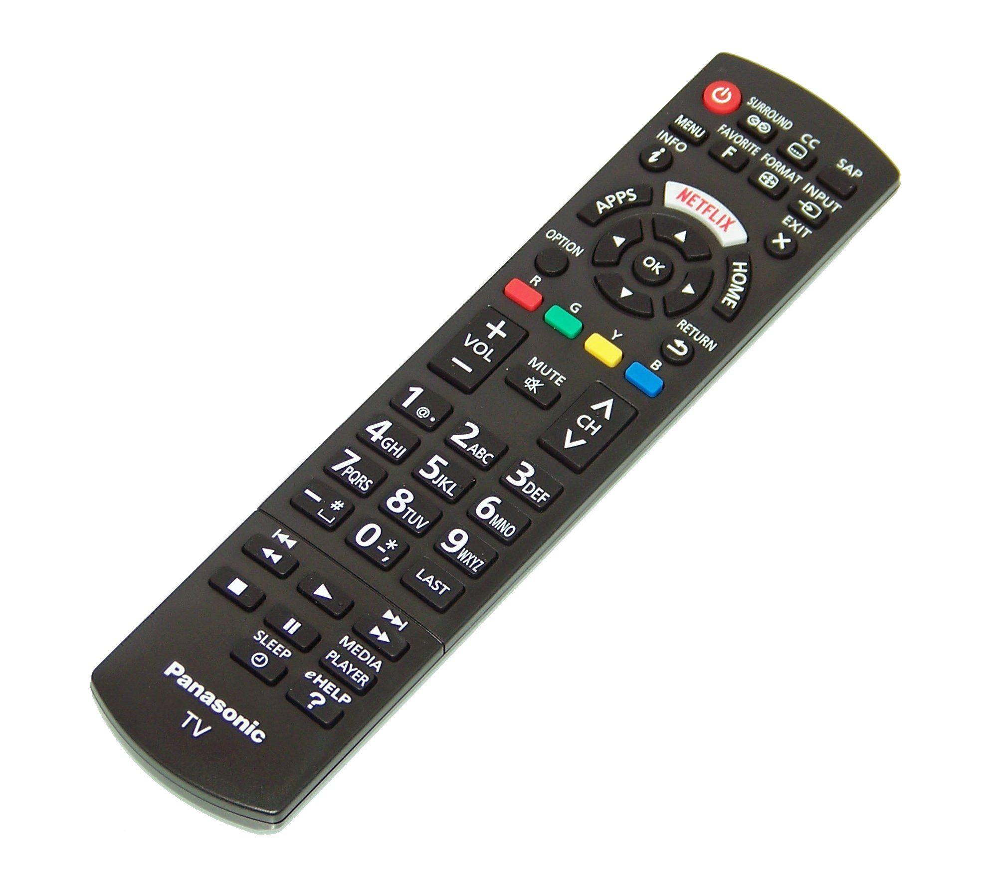 OEM Panasonic Remote Control Specifically for TCL50E60, TC-L50E60, TCL58E60, TC-L58E60, TCL65E60, TC-L65E60