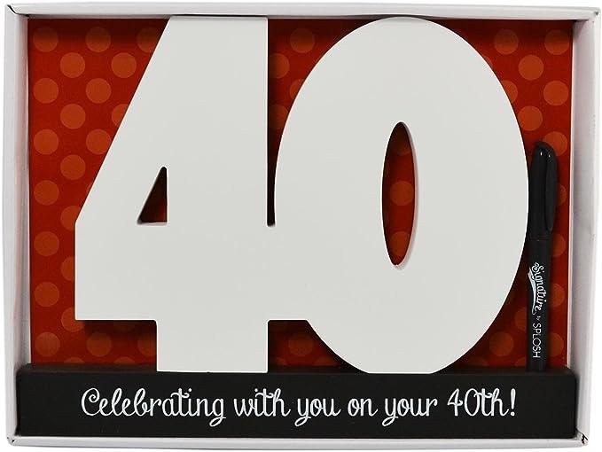 madera 40 cumpleaños Números: Amazon.es: Juguetes y juegos