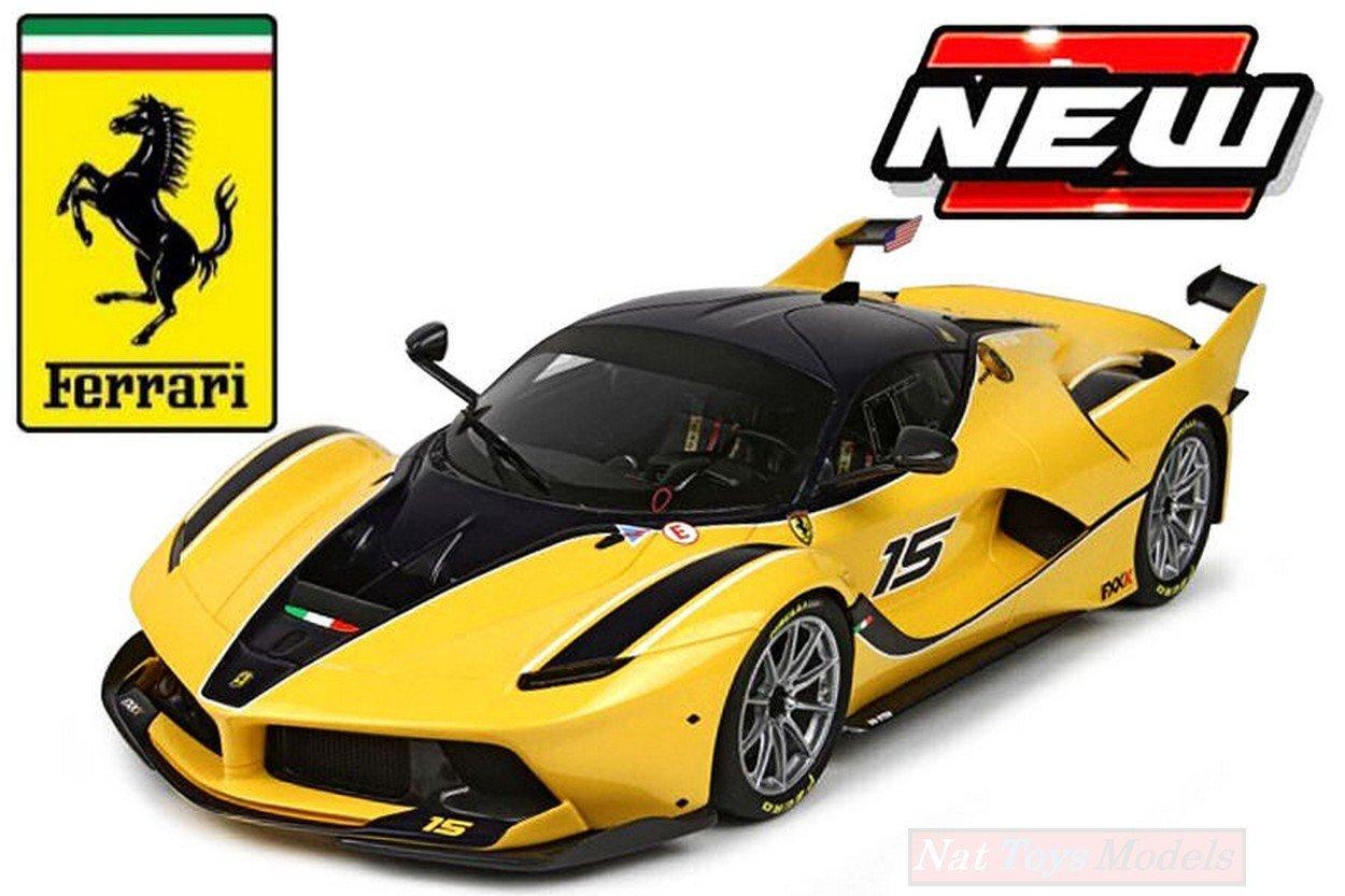 2015 Ferrari FXX-K 15 Amarillo 1:18 Bburago Race Play 16010