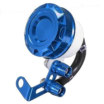 Alamor CNC Moto Freno Embrague Cilindro Aceite líquido depósito Tanque Taza Universal - Azul: Amazon.es: Hogar