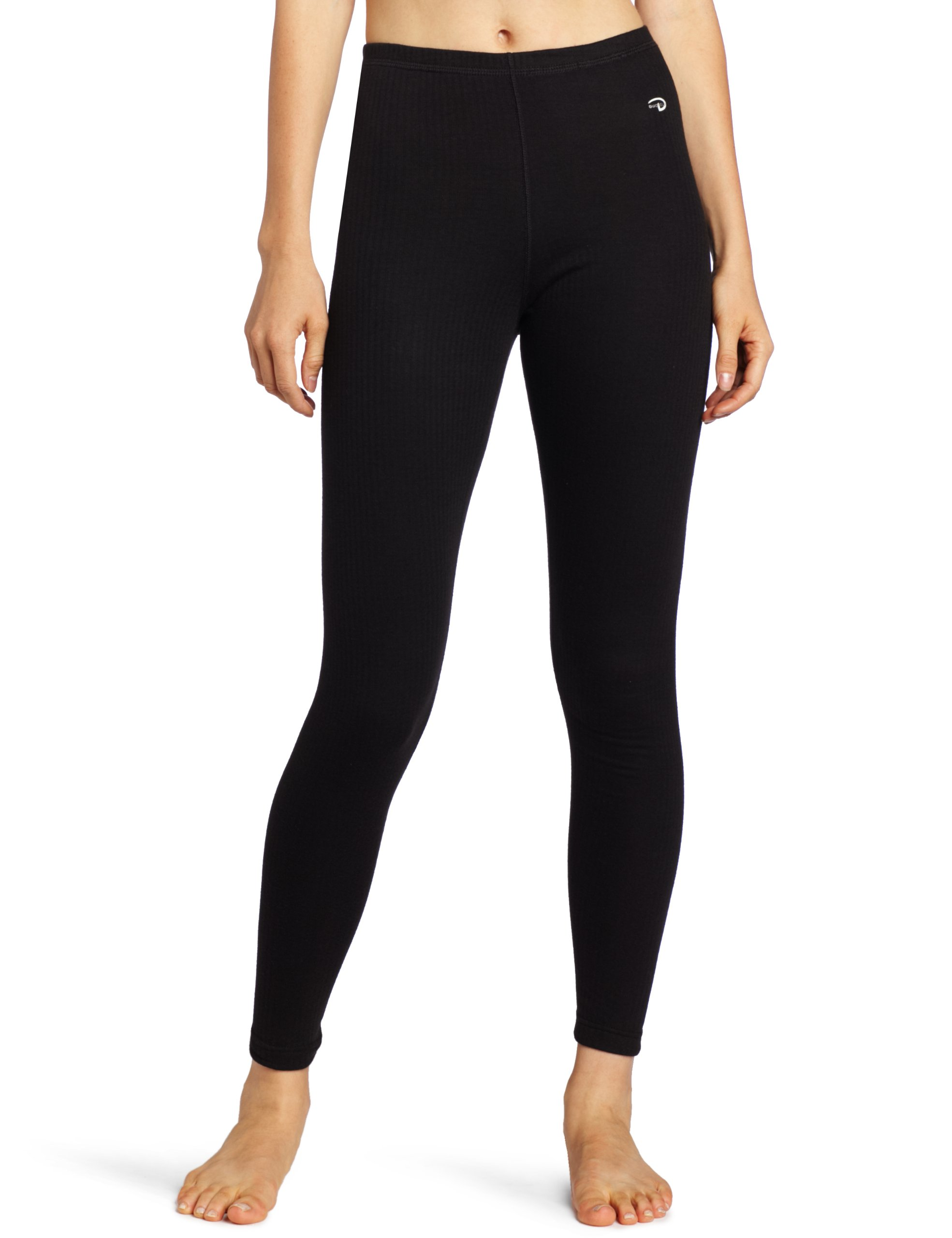 Duofold Women's Mid Weight Wicking Thermal Leggings, Black, X Large