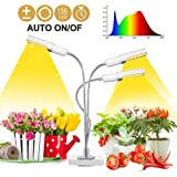 Grow Light for Indoor Plants, 4WDKING 80W Tri-Head LED Growing Lights Lamps Bulb with Sunlike Full Spectrum.