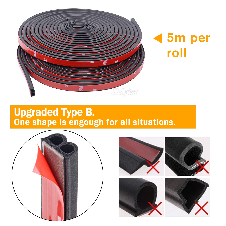 10M B-Shape Trim Rubber Strip Universal Car Door Edge Seal Weather-strip zxc