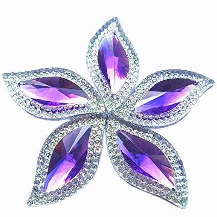 Rhinestones Leaf Shape with Silver Edge Gems Stones and Crystals Wedding  Decoration Sew On for Stick 4f32aac01765