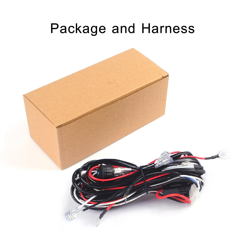 Work Light Wiring Harness Kits Blue Switch 12V30A Relay and 18AWG 9FT Length for LED Light Bar//Driving Light//Fog Light and Pods Light