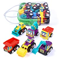 Studyset 6pcs Children Mini Cartoon Pull Back Car Toys Kids Gifts
